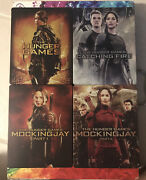 Hunger Games Steelbook Lot 4 Movie Steelbook Blu-ray Collection Rare