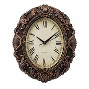 14-inch Retro Oval Wall Clock, Silent Non-ticking Home Decor Wall Clock For Home