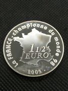 1-1/2 Euro 2005 France Ag Proof World Cup Soccer - Champion 1998 France