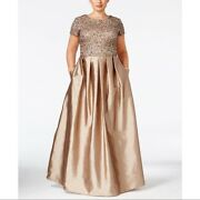 Nwt Adrianna Papell Plus Size Tafetta Gown