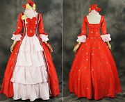 H-056 Size M Clamps Xxxholic Yuko Cosplay Gothic Dress Victorian Red Costume