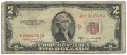 1953 B 2 Two Dollar Bill Us United States Note Fr1511 - You Grade It