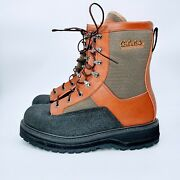 Cabelas Master Guide Fly Fishing Wading Boots Lace Up Vibram Bottom Mens Sz 12d.
