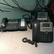Lot Of 3 Cisco Spa 508g Small Business Ip Phone - Spa508g