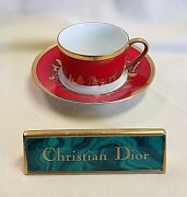 Christian Dior Joyeux Noel Cup And Saucer
