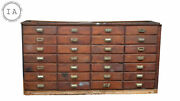Antique 28 Drawer Apothecary Cabinet