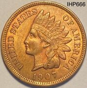 1907 Indian Head Penny Cent