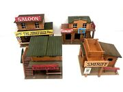 Vintage Oehme And Söhne Lot Of 4 Saloon/ Sheriff/ Barber Shop/ Saddlery 132
