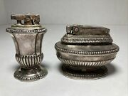 Vintage Lot Of 2 Ronson Table Top Lighters
