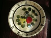 Vintage 2 Porcelain Round Wall Clocks Hand Painted Made In Japan