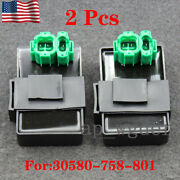 2x Cdi Box Ignition Control Module For Honda Gx640 H4518h And H5518 30580-758-801