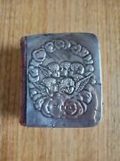 1908 Silver Leather Pocket Bible Birmingham Levi And Salaman Hall Oxford 688 Pages