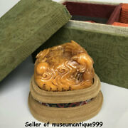 2.6 Chinese Natural Shoushan Stone Carved Phoenix Bird Lucky Seal Signet Stamp