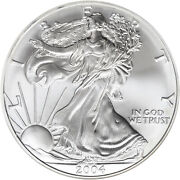 2004 American Silver Eagle 1 Ounce 0.999 All From Mint Rolls.