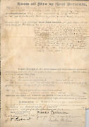 Francis Parkman American Historian Land Deed Boston 1835 First Day Issue 9-16-67