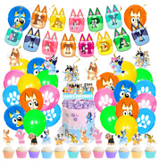 Bluey And Bingo Themed Birthday Party Decorations Supplies Set