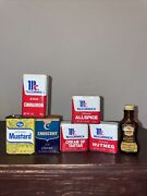 Vintage Mccormick And Other Spice Containers, Preowned