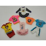 Disney Fashion Barbie Clothing Minnie And Mickey Mouse Tops Dress Shorts 8pc Set