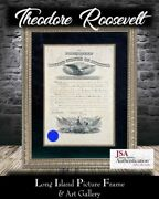 President Theodore Roosevelt Signed Appointment Frame Jsa Loa Free Ship