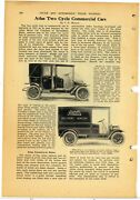 1911 Atlas Motor Car Co. Article And Pics Delivery Wagon - Springfield Ma