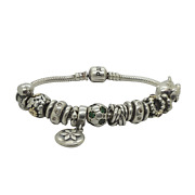 Pandora 925 Sterling Silver Bracelet With Silver Variety Charms