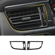 For Porsche Macan 2015-2021 Dry Carbon Fiber Left And Right Air Outlet Vent Trim