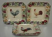 Noble Excellence Napa Chanticleer Square Salad Plates Set Of Three Best