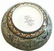 Xlarge Ceramicas De Coimbra Bowl Centerpiece Hand Painted Made In Portugal- Wow