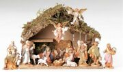 Fontanini Nativity 5 Inch Scale 16 Figures With Italian Stable 54492 New 390