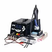 Yihua 853d 5a-ii 3 In 1 Hot Air Rework Soldering Iron Station And Dc Power Su...