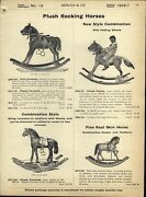 1906/7 Paper Ad Real Hide Skin Plush Rocking Horse Toy Play Wheels Shoo Fly