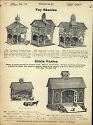 1906/7 Paper Ad Toy Play Horse Stable Roosevelt Stock Farm Barn