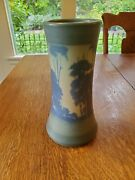 Tall Rookwood Pottery Vase W/ Scenic Landscape