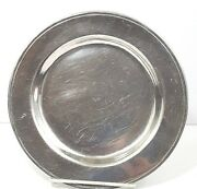 Columbia Pa Wilton Armetale Pewter Bread And Butter Plate 7 3/4 Set Of 2