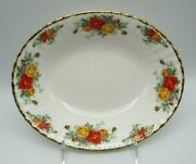 Pacific Rose By Royal Albert Oval Open Vegetable Bowl Mint