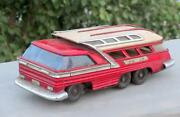 Vintage Old Rare Battery Operated Me 83 Passenger Heavy Litho Bus Tin Toy China