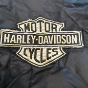 Ladies Harley Davidson Hd Jacket With Quilted Lining Black Size Large Motorcycle