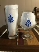 Tree House Brewing Tulip And Willi Becher Cape Cod Beer Glasses 1st Edition Rare