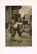 Antique Asian Chinese Childrens Fashion Clothing Photo Gravure Print