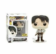 Funko Pop Animation Cleaning Levi 239 Attack On Titan Aot Hot Topic In Hand