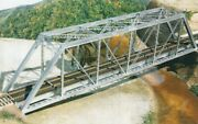 Central Valley - 150and039 Through-truss Bridge -- With Gussested Girders - Kit - Ho
