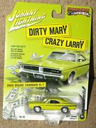 Johnny Lightning Dirty Mary Crazy Larry 1969 Dodge Charger R/t Diecast Car 164