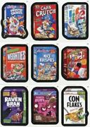 Wacky Packages Stickers Series 9 Cereal Box Sticker Card Set 9 Cards Topps 2012