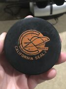 Vintage Rare 1970-73 California Golden Seals Ccm Game Used Hockey Practice Puck