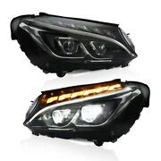 Led Headlights Assembly For Mercedes Benz C-class W205 C300 2015-2018