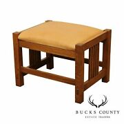 Stickley Mission Collection Oak Spindle Ottoman, Footstool