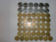 - Mexico Coin Lot Of 55 Old And New Coins - 1 Peso And 50 Centavos -1984-2008 -dup