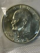1973-s Silver Eisenhower Dollar, Uncirculated 40 Silver