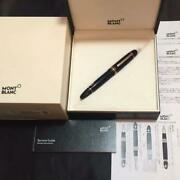 Mont Blanc Fountain Pen 149 Red Gold 112666