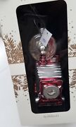 New Christmas Ornament Glass Trimsetter Dillards Camera Old Fashioned Red Silver